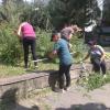 Bezdomovci z Bosákovej nám opäť pomáhali pri skrášlení sídliska