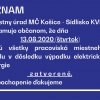 Miestny úrad bude 13.8.2020 zatvorený